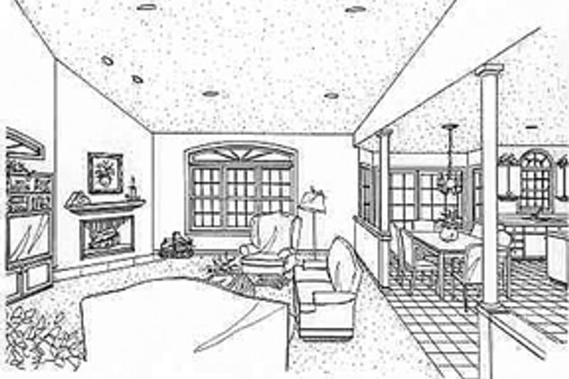Country Interior - Family Room Plan #314-268 - Houseplans.com