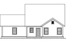 Country Exterior - Rear Elevation Plan #513-2164