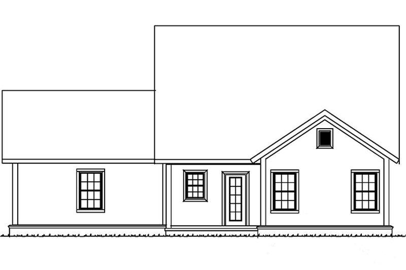 Country Exterior - Rear Elevation Plan #513-2164 - Houseplans.com