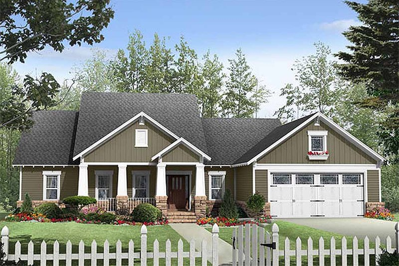 Dream House Plan - Craftsman Exterior - Front Elevation Plan #21-267