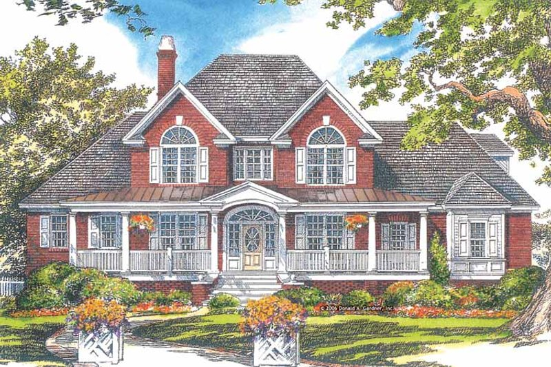 House Plan Design - Country Exterior - Front Elevation Plan #929-886