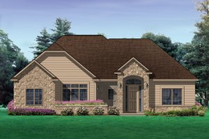 Architectural House Design - Traditional Exterior - Front Elevation Plan #1057-4