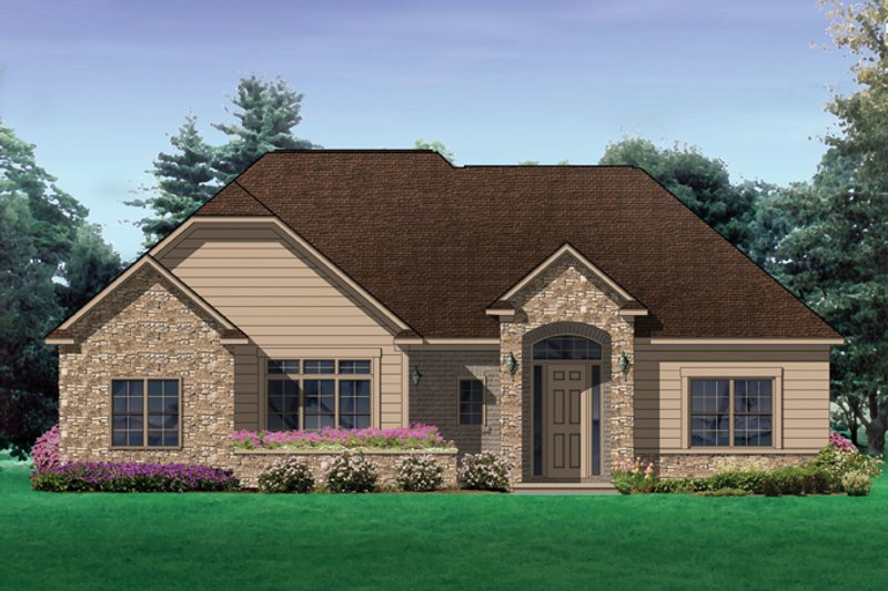 Traditional Exterior - Front Elevation Plan #1057-4 - Houseplans.com