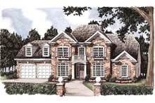 Home Plan - Colonial Exterior - Front Elevation Plan #927-847