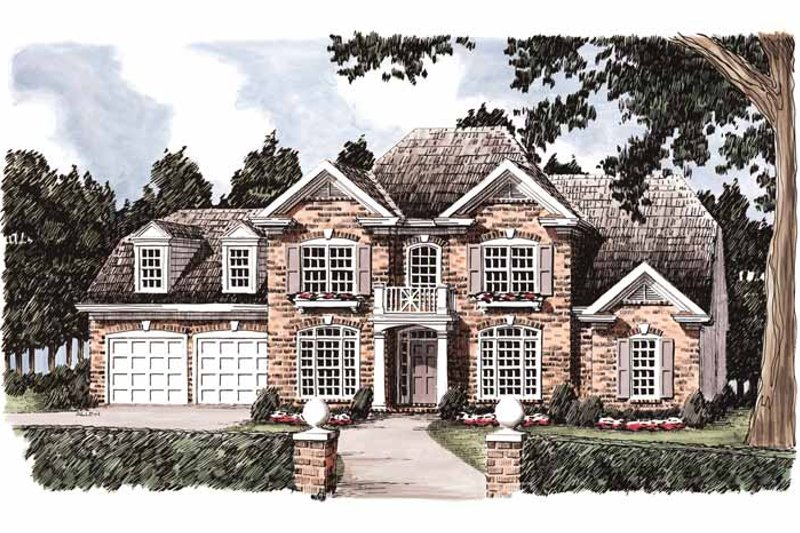 Colonial Exterior - Front Elevation Plan #927-847