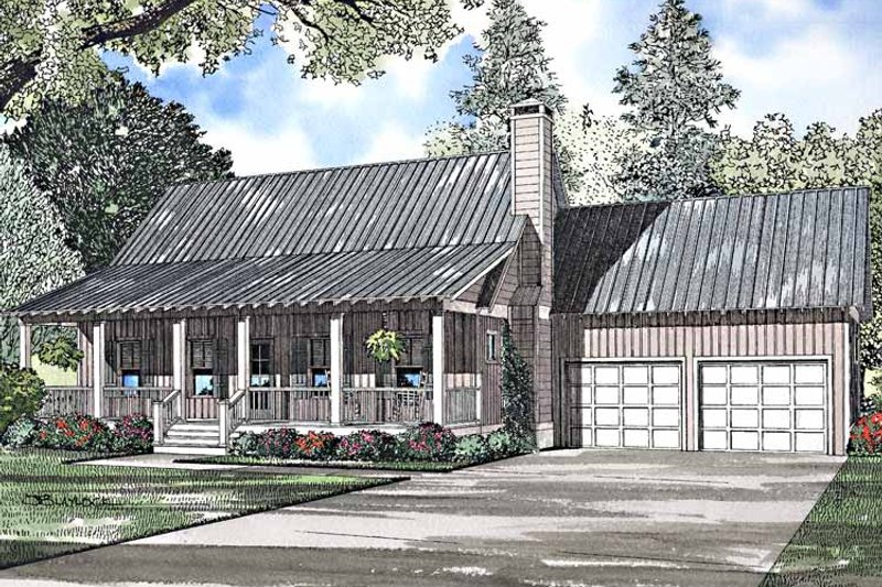 Country Exterior - Front Elevation Plan #17-3240 - Houseplans.com