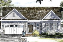 Colonial Exterior - Front Elevation Plan #316-285