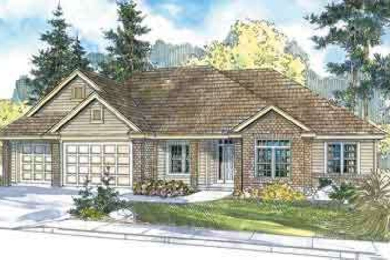 Traditional Exterior - Front Elevation Plan #124-570 - Houseplans.com