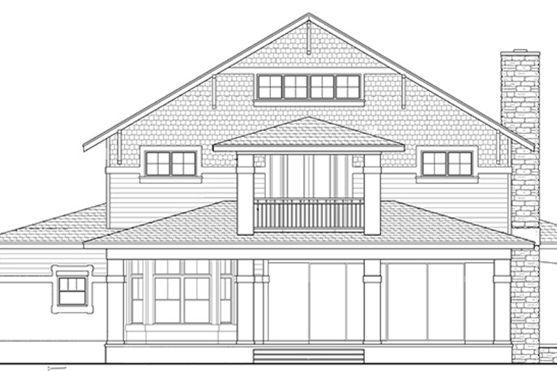 Craftsman Exterior - Rear Elevation Plan #1058-79 - Houseplans.com