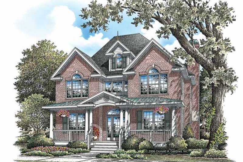 Colonial Exterior - Front Elevation Plan #929-851 - Houseplans.com