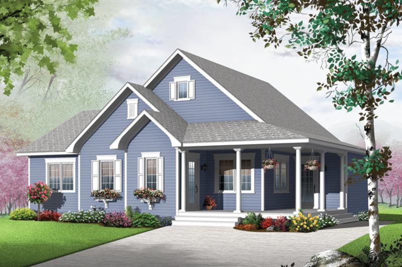 Colonial Exterior - Front Elevation Plan #23-2565 - Houseplans.com