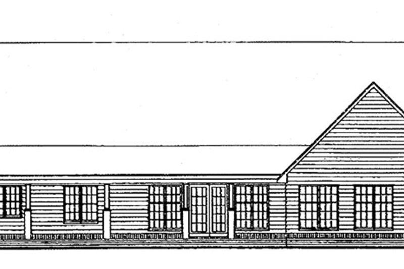 Ranch Exterior - Rear Elevation Plan #1051-11 - Houseplans.com