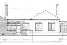 Classical Exterior - Rear Elevation Plan #72-820