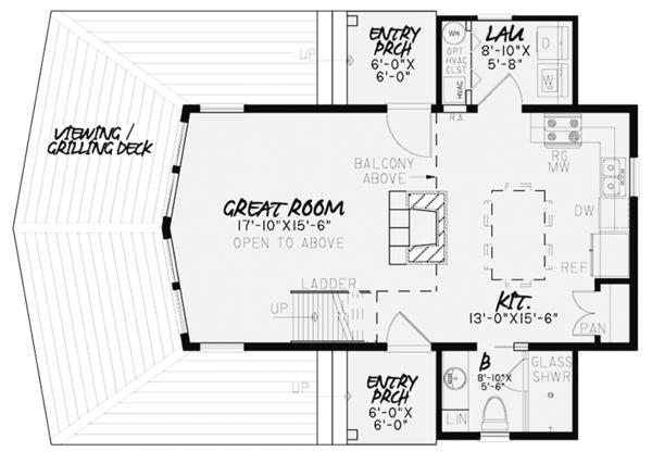 Contemporary Floor Plan - Main Floor Plan Plan #17-3376
