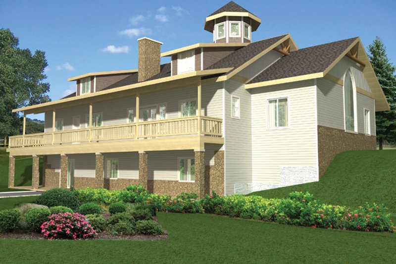 Colonial Exterior - Rear Elevation Plan #117-845 - Houseplans.com