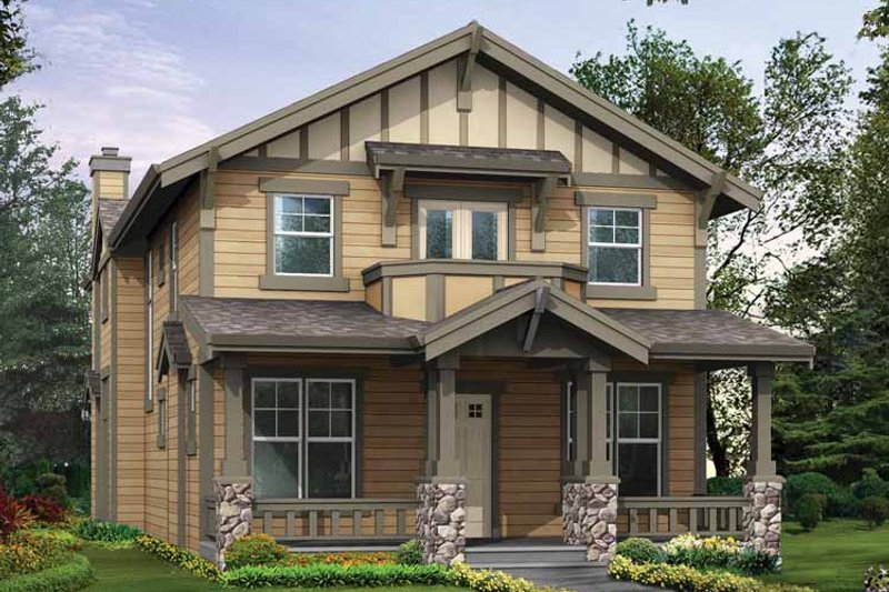 Craftsman Exterior - Front Elevation Plan #132-323 - Houseplans.com