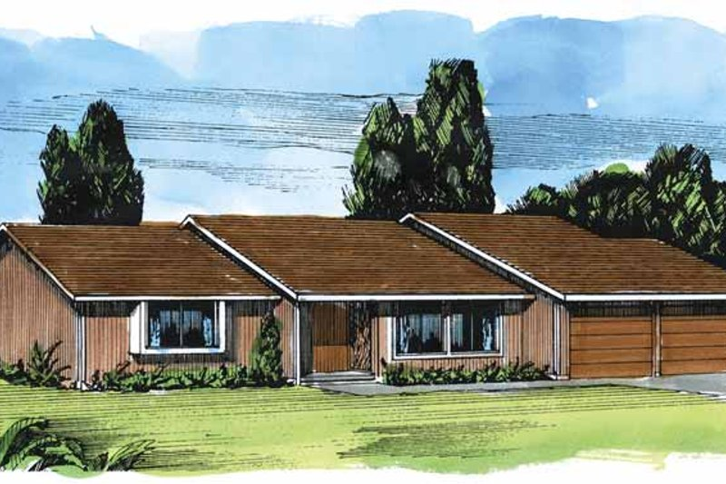 Contemporary Exterior - Front Elevation Plan #320-779