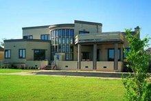 House Blueprint - Modern Exterior - Rear Elevation Plan #72-175