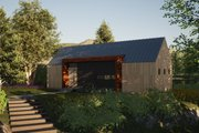 Modern Style House Plan - 2 Beds 2 Baths 991 Sq/Ft Plan #933-5 Exterior - Front Elevation