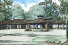 Contemporary Exterior - Front Elevation Plan #17-3390