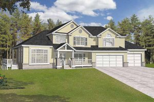 Dream House Plan - Traditional Exterior - Front Elevation Plan #1037-13