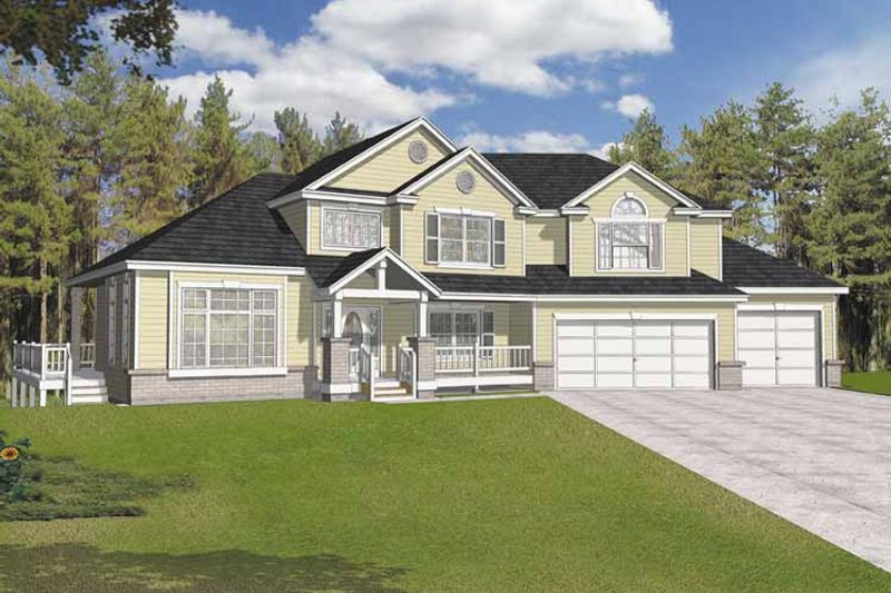 Traditional Exterior - Front Elevation Plan #1037-13 - Houseplans.com
