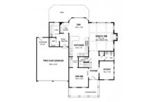 Colonial Floor Plan - Main Floor Plan Plan #316-279