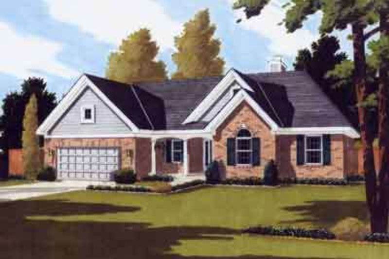 Southern Exterior - Front Elevation Plan #46-120