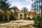 Mediterranean Style House Plan - 4 Beds 4 Baths 5498 Sq/Ft Plan #930-436 Exterior - Front Elevation