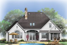 Dream House Plan - Traditional Exterior - Rear Elevation Plan #929-925