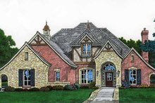 House Plan Design - Country Exterior - Front Elevation Plan #310-1208
