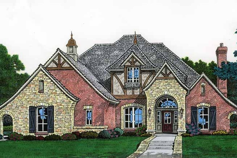 Architectural House Design - Country Exterior - Front Elevation Plan #310-1208