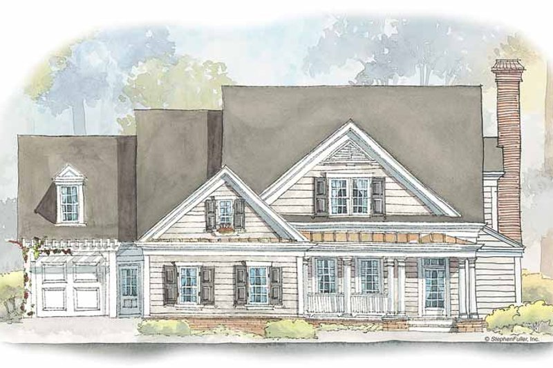 Country Exterior - Front Elevation Plan #429-431