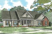 Country Style House Plan - 3 Beds 2 Baths 2029 Sq/Ft Plan #17-2478 Exterior - Front Elevation