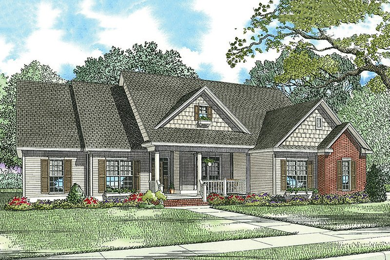 Home Plan - Country Exterior - Front Elevation Plan #17-2478
