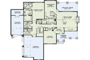 Craftsman Style House Plan - 4 Beds 3.5 Baths 3430 Sq/Ft Plan #17-2384 Floor Plan - Main Floor Plan