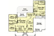 Country Style House Plan - 4 Beds 2.5 Baths 2250 Sq/Ft Plan #430-47 Floor Plan - Main Floor Plan
