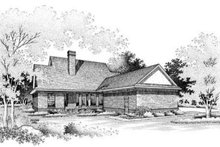 Southern Exterior - Rear Elevation Plan #45-200
