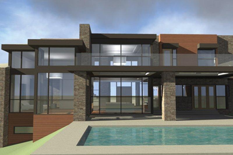 Contemporary Exterior - Rear Elevation Plan #64-324 - Houseplans.com