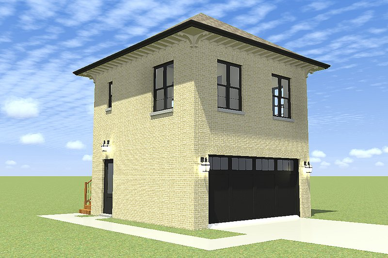Traditional Exterior - Front Elevation Plan #64-229 - Houseplans.com