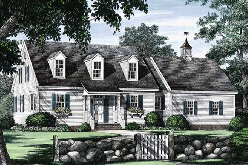 Colonial Exterior - Front Elevation Plan #137-180