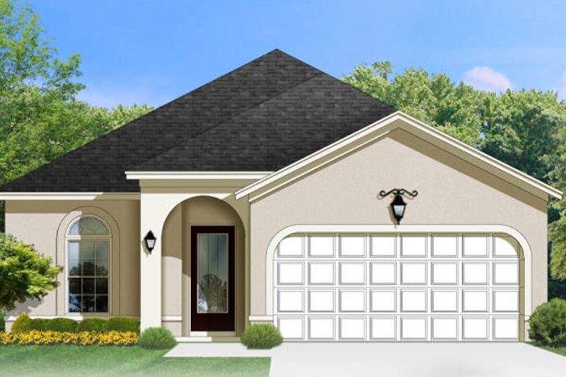 Adobe / Southwestern Exterior - Front Elevation Plan #1058-88 - Houseplans.com