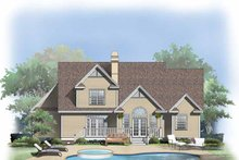 House Plan Design - Country Exterior - Rear Elevation Plan #929-653