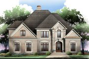 European Style House Plan - 4 Beds 3.5 Baths 3065 Sq/Ft Plan #119-130 Exterior - Other Elevation