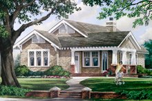 Architectural House Design - Craftsman Exterior - Front Elevation Plan #137-359