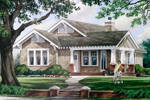 Craftsman Exterior - Front Elevation Plan #137-359