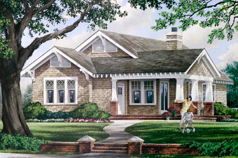 House Plan Design - Craftsman Exterior - Front Elevation Plan #137-359
