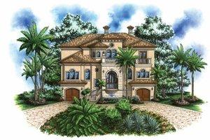 House Plan Design - Mediterranean Exterior - Front Elevation Plan #1017-109
