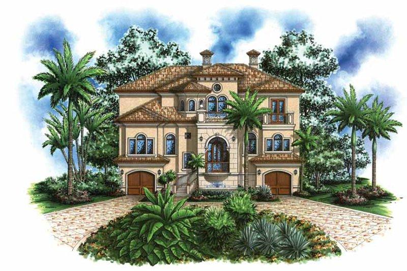 Dream House Plan - Mediterranean Exterior - Front Elevation Plan #1017-109