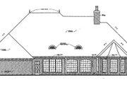 European Style House Plan - 4 Beds 3.5 Baths 3494 Sq/Ft Plan #310-335 Exterior - Rear Elevation